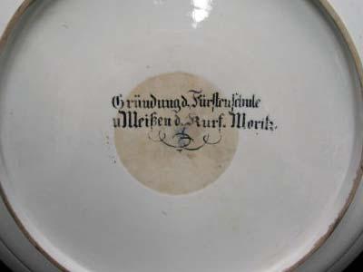 Meissen Porcelain plate stamp